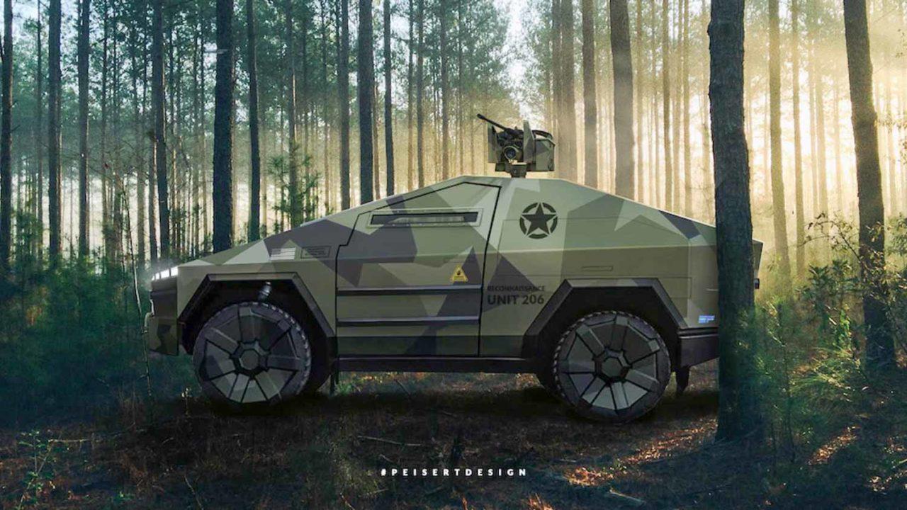 Tactical Combat Tesla Cybertruck Rendering-1-2