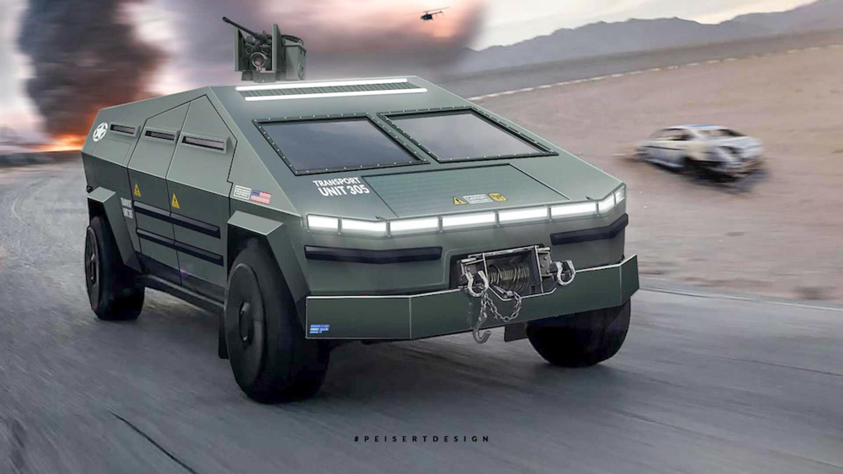 These Combat Ready Tesla Cybertruck Renderings Will Leave You In Awe
