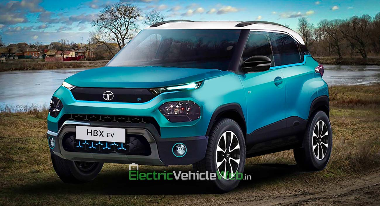 Tata Hornbill Electric Mini-SUV (HBX EV) Digitally Imagined