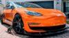 Tesla Model 3 Orange Wrapped-1