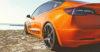 Tesla Model 3 Orange Wrapped-2