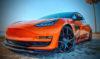 Tesla Model 3 Orange Wrapped-3