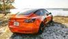 Tesla Model 3 Orange Wrapped-5