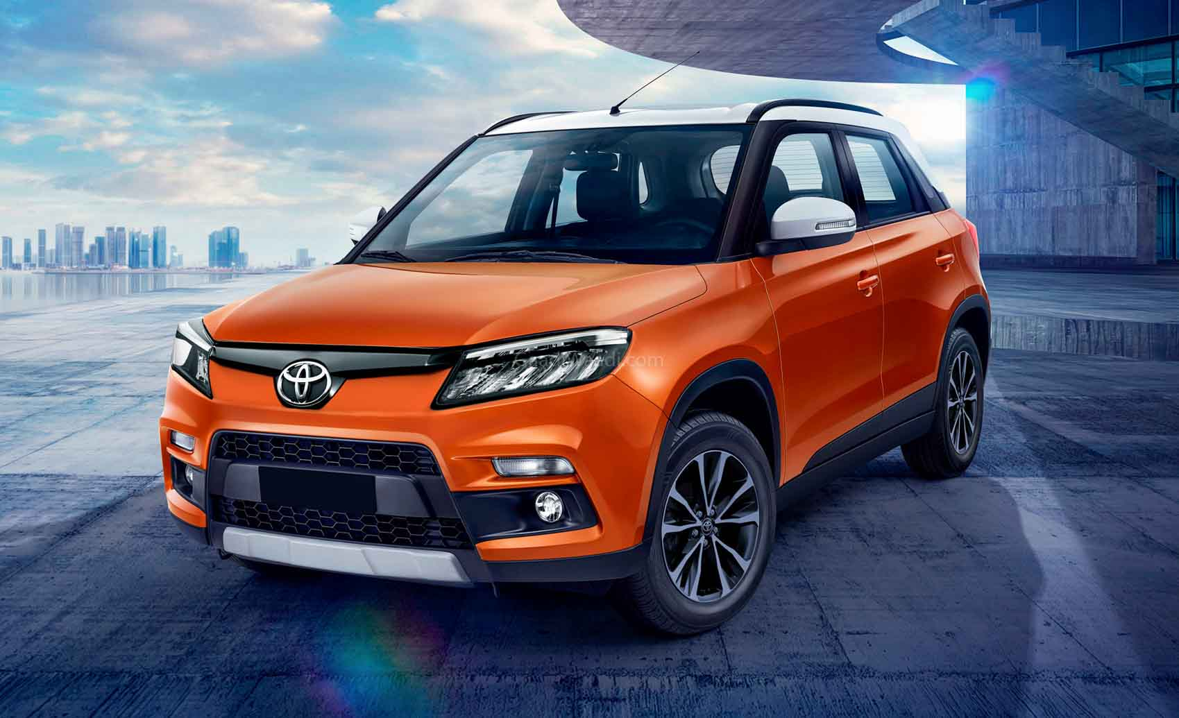 Toyota Urban Cruiser (Brezza Based) Compact SUV Rendered; India Launch Soon