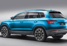Skoda Karoq rear three quarter