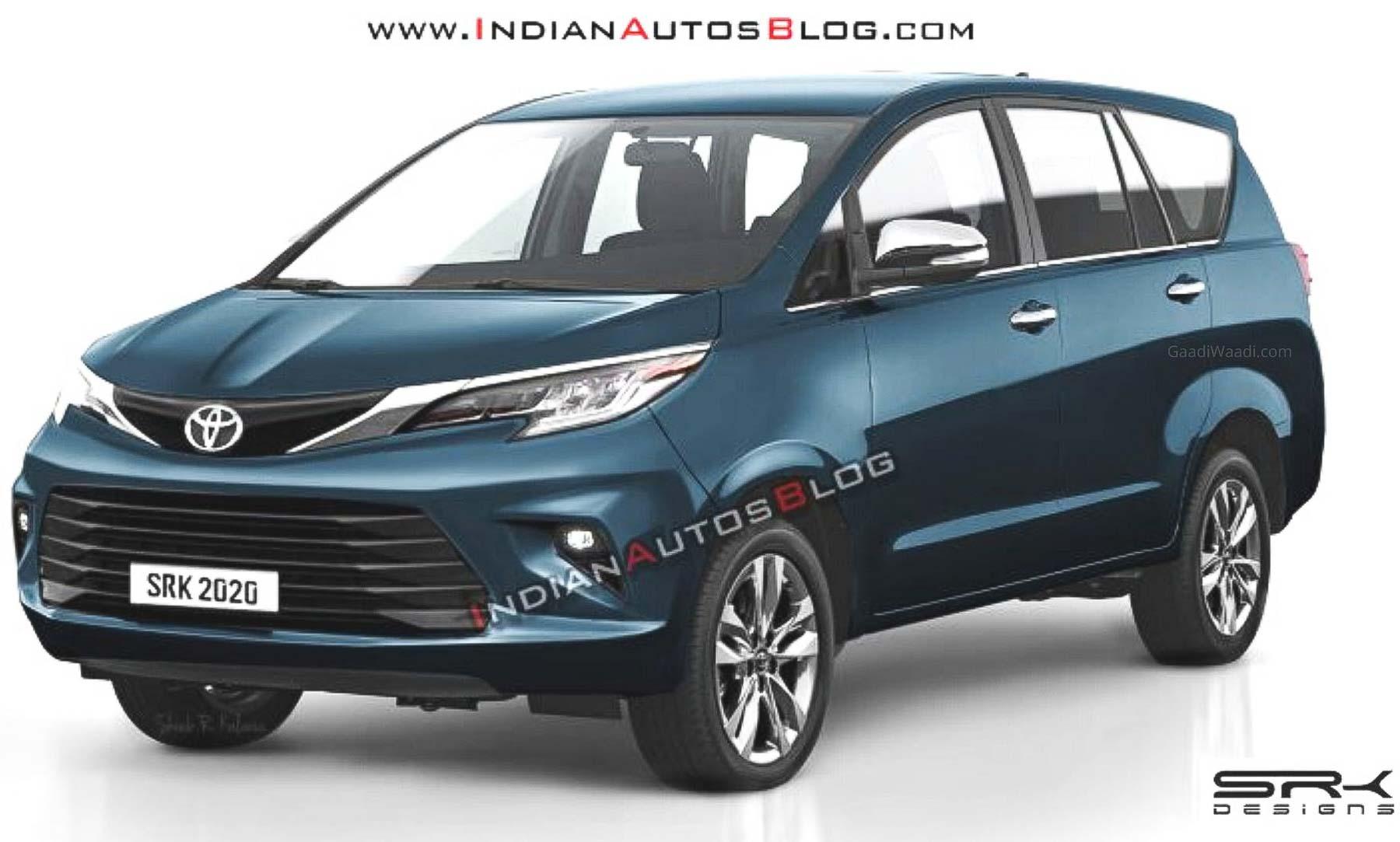 2021 Toyota Innova Crysta Facelift Imagined In New Digital Rendering