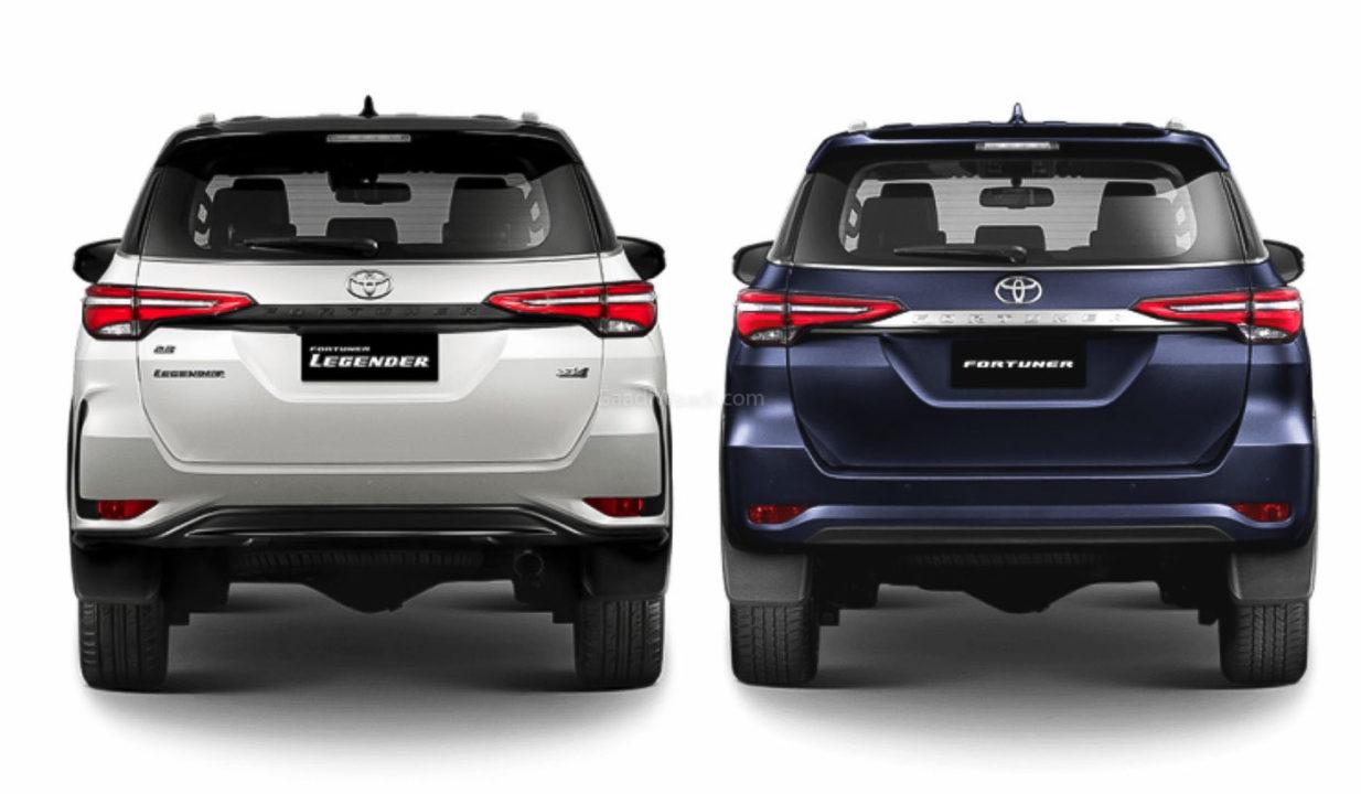 2021 Toyota Fortuner Legender vs Standard Fortuner Facelift-1-2