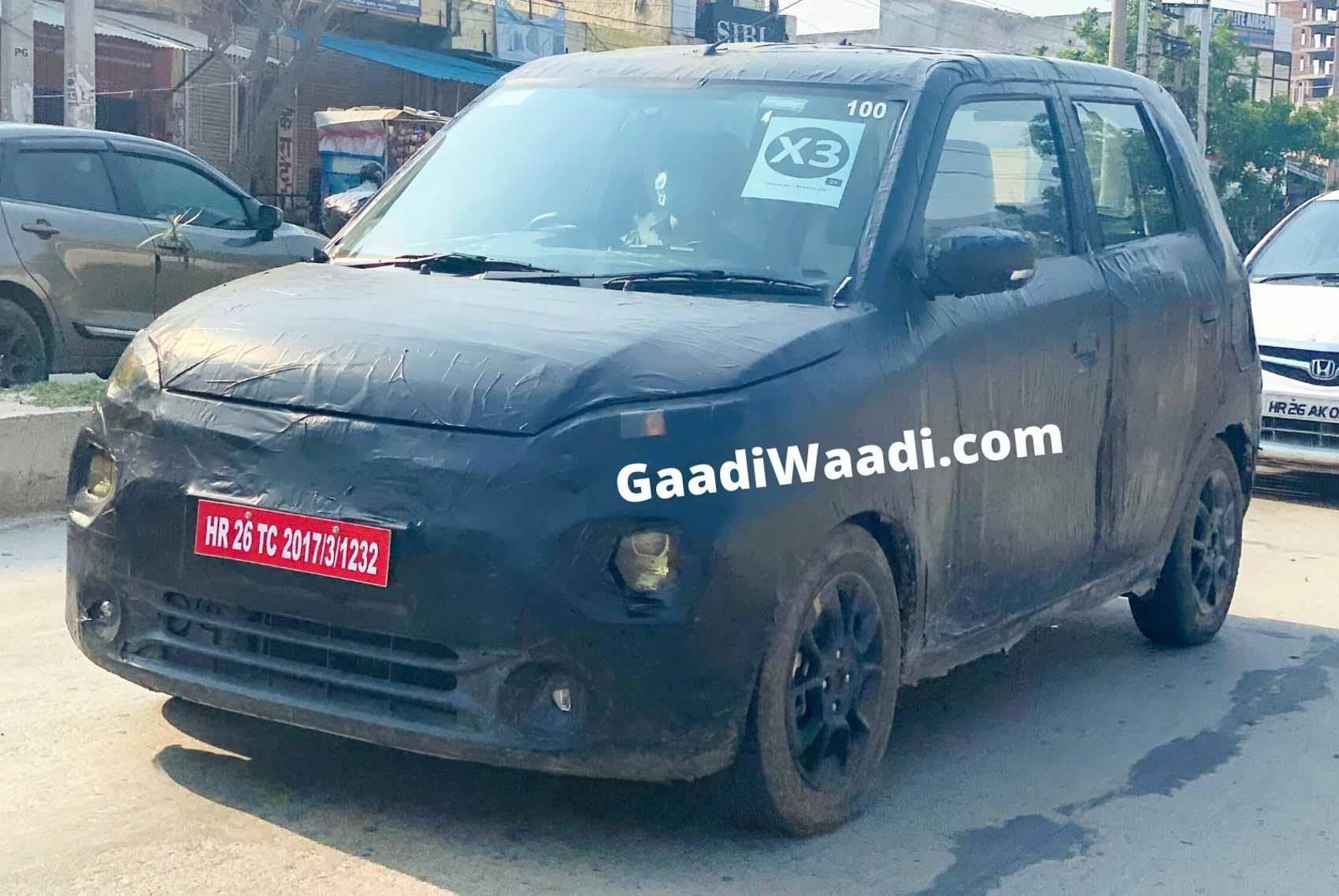 Production-Spec Maruti Suzuki Wagon R Electric Spied Testing Again