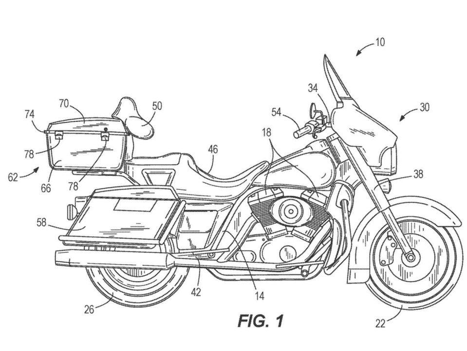 Harley patent Self Balancing Technology