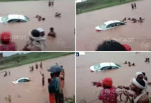 Honda City Falls Into A River, Locals Come To The Rescue - Video-1