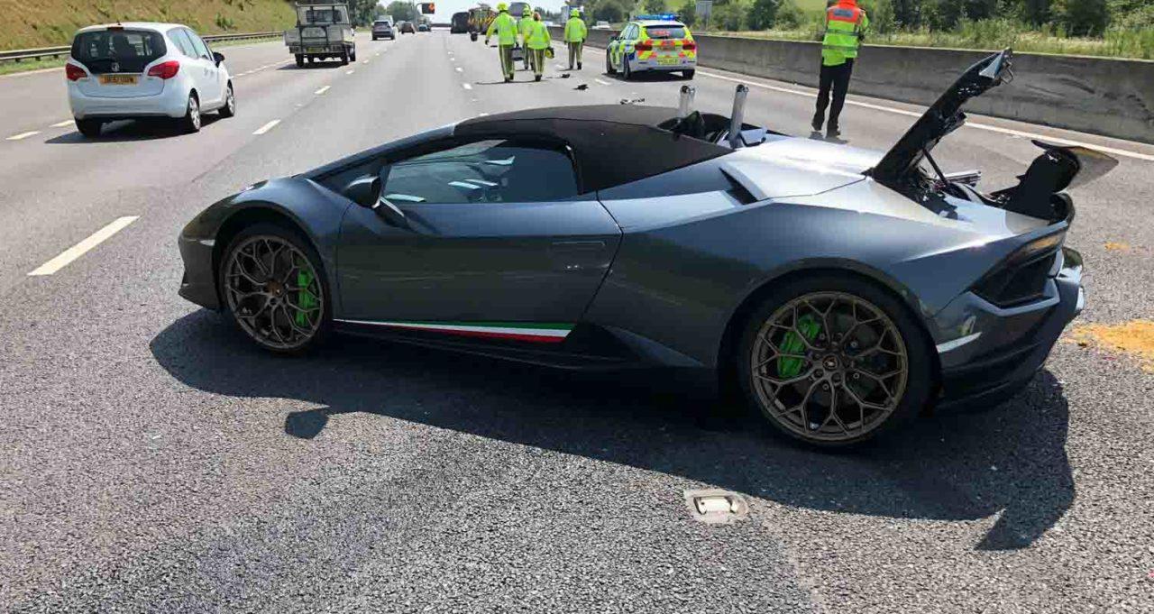 Lamborghini Huracan Performante Spyder Accident 1