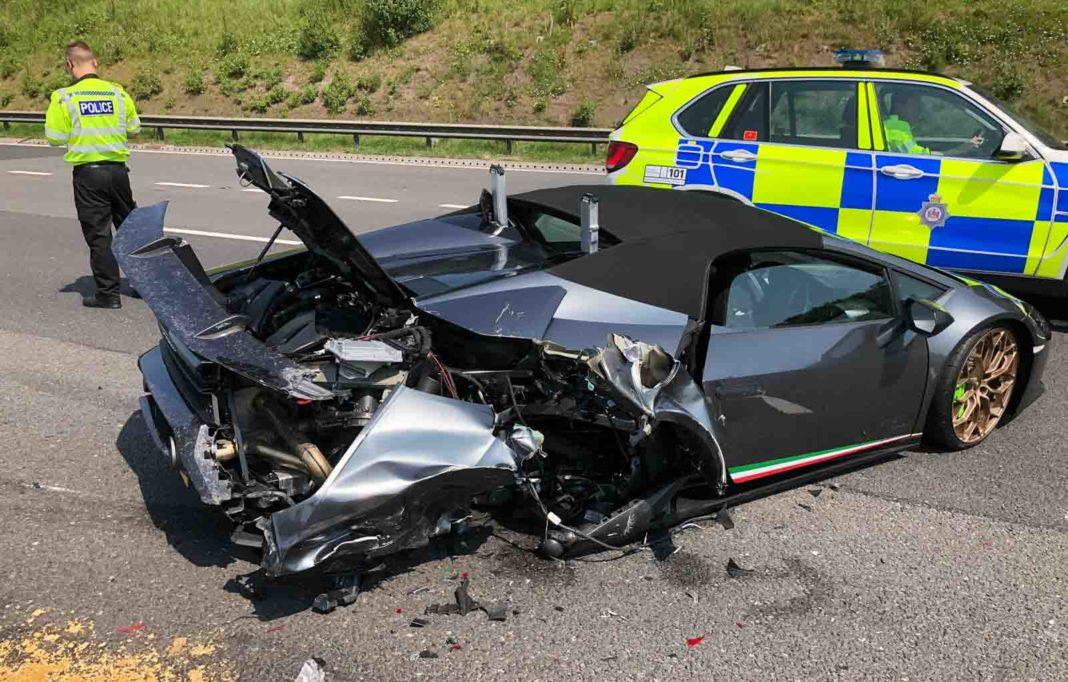Lamborghini Huracan Performante Spyder Accident 2