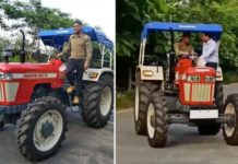 MS Dhoni Tractor Ride-1