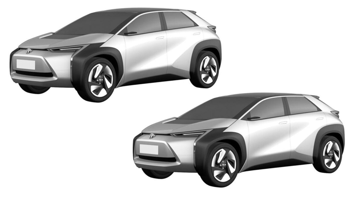 Toyota Files Patent Application For Two Electric Crossovers