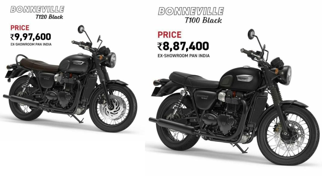 Triumph Bonneville T100 & T120 Black Editions
