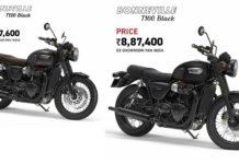 Triumph Bonneville T100 & T120 Black Editions