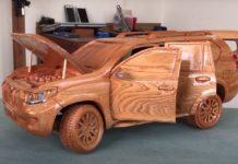 Wood Carved 2020 Land Cruiser Prado4