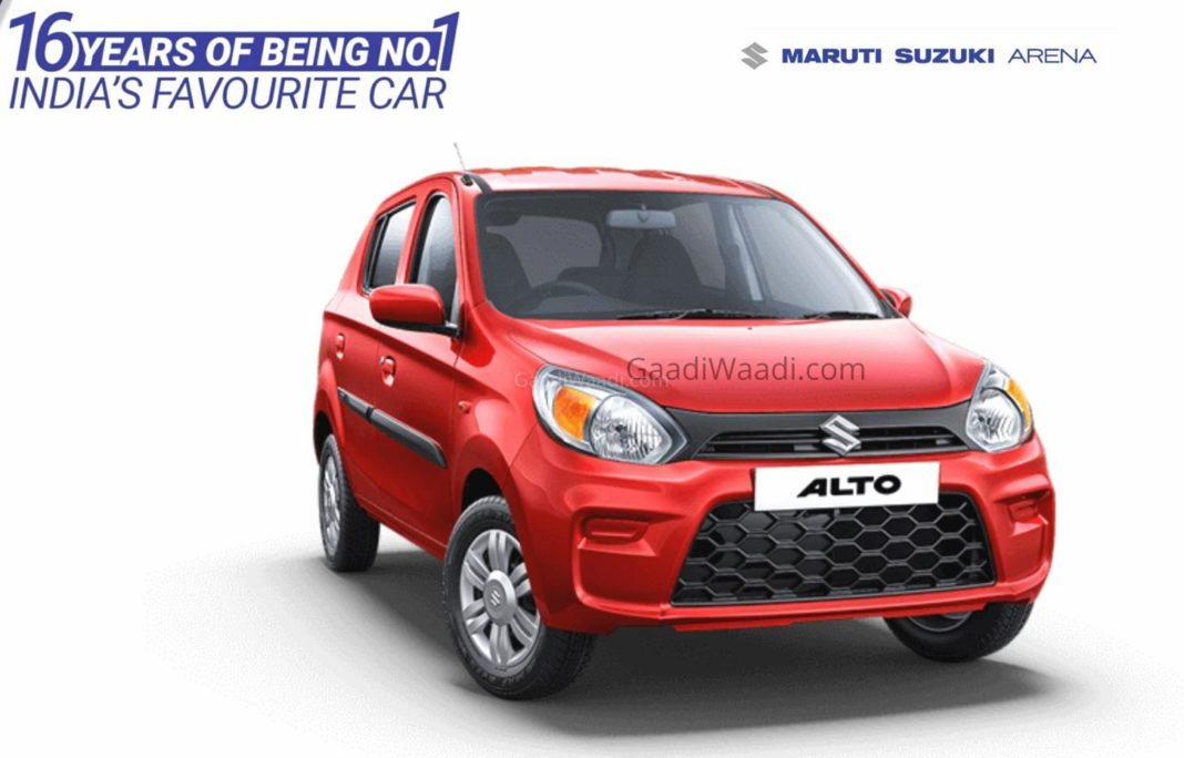 Maruti Suzuki alto 16 years sales