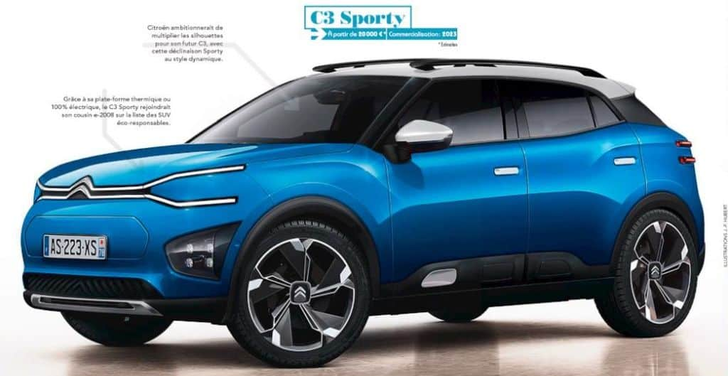 Citroen C21 Compact SUV For India Could Be Named 'C3 Sporty'