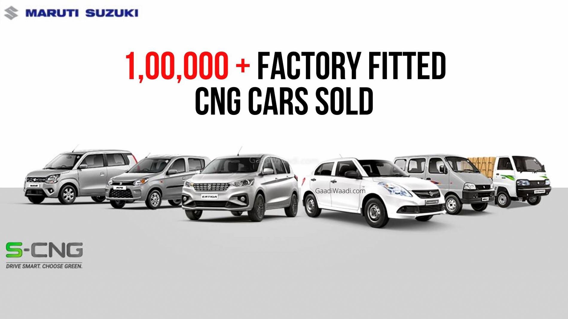 Maruti Suzuki S-CNG Car Sales Cross 1 Lakh Mark – Alto, Wagon R, Ertiga, Eeco