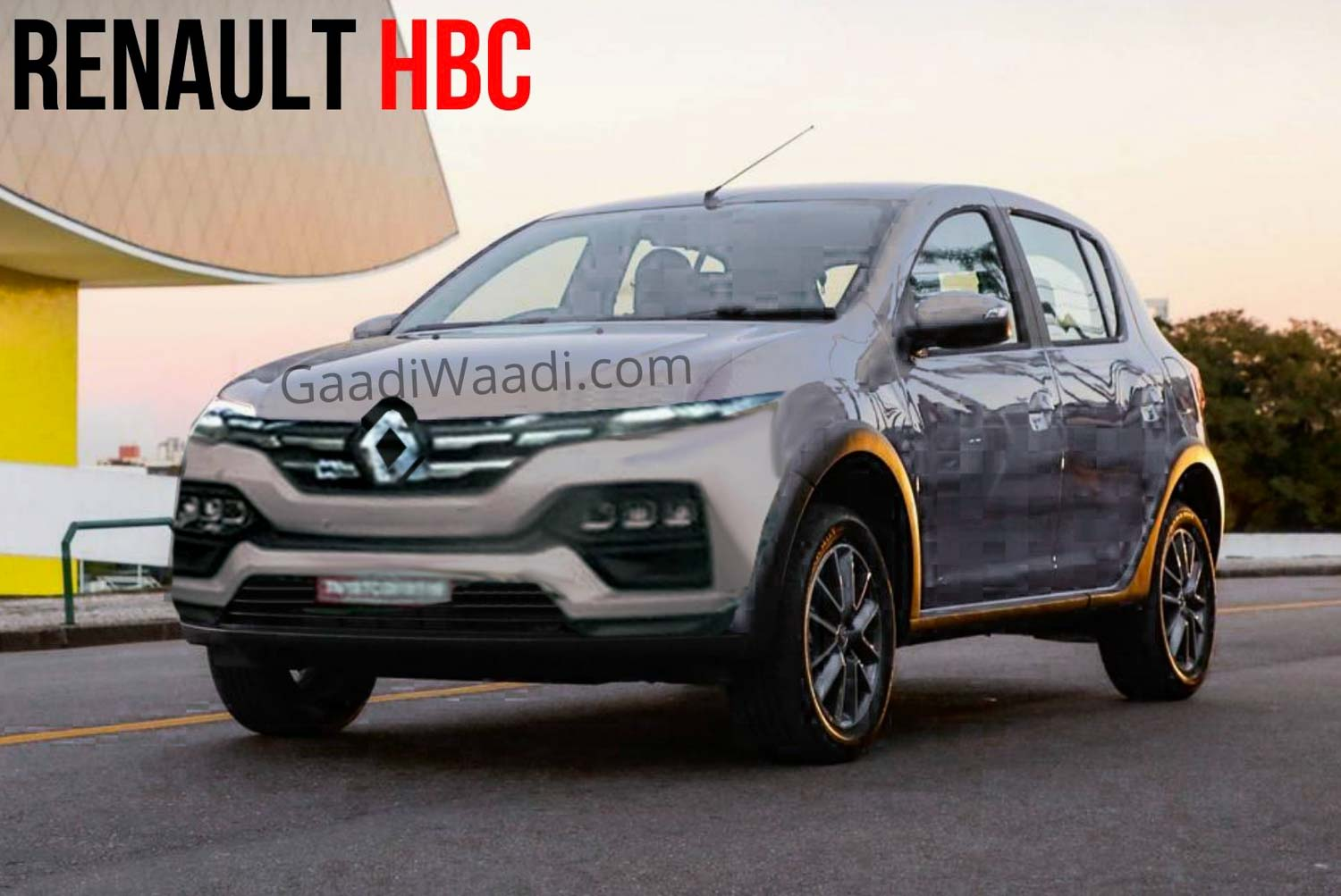 Upcoming Renault Kiger (HBC) Front Design Revealed In New Spy Shot