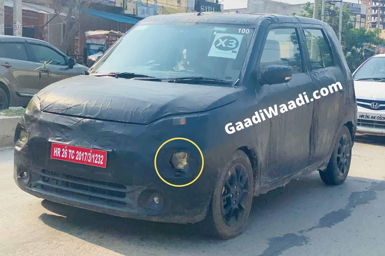 Maruti Suzuki Wagon EV Spotted With Projector Headlamps