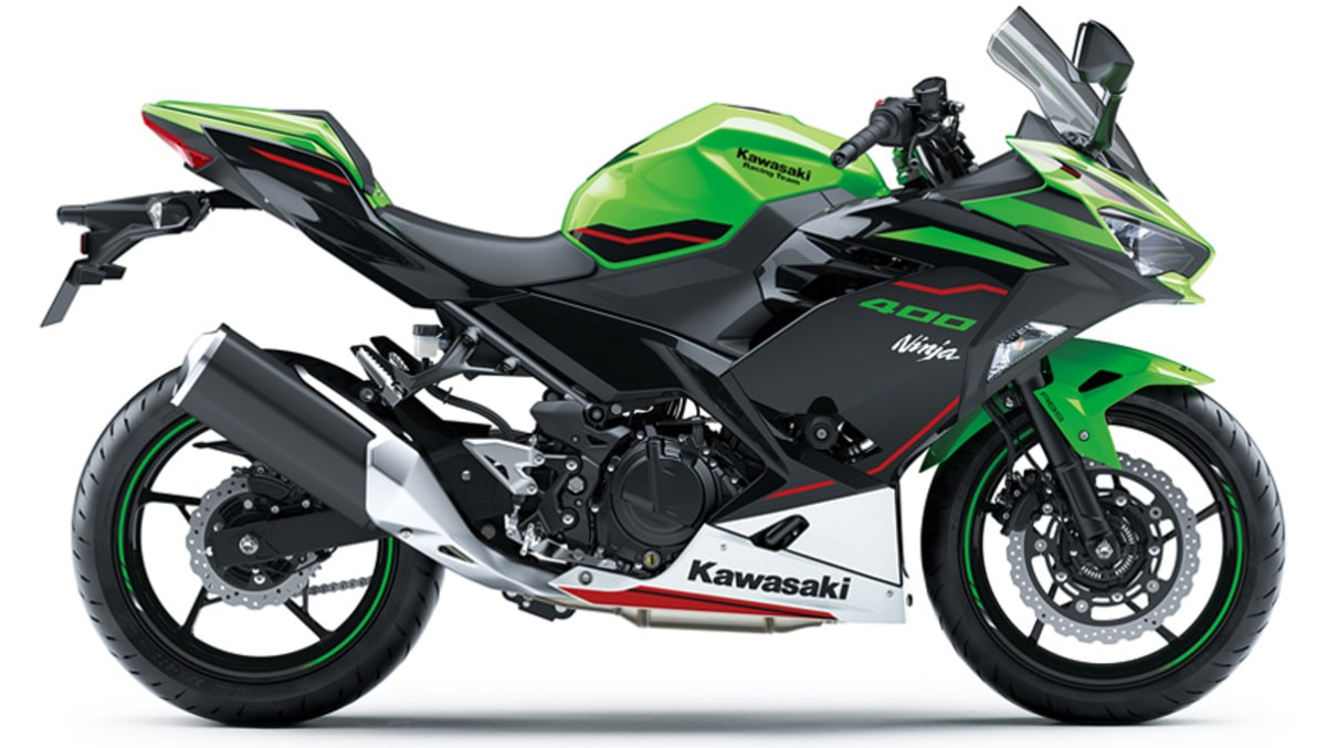 2021 Kawasaki Ninja 400 Green side right