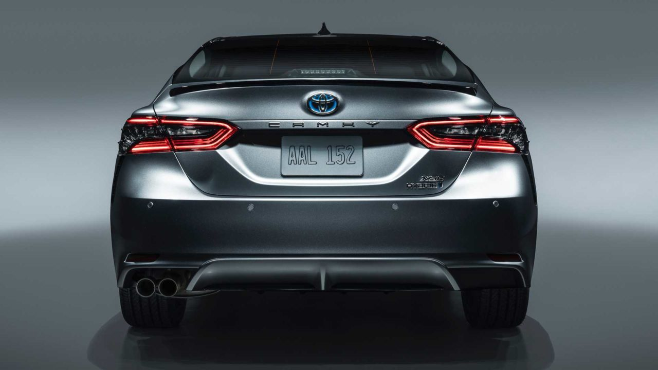2021 Toyota Camry XSE rear view