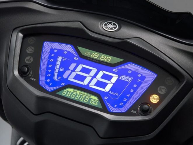 2021 Yamaha Cygnus Graphus 125 instrument console