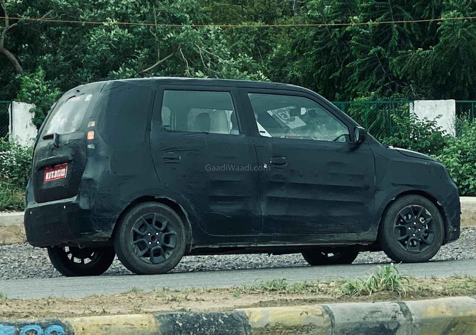 2021 Maruti Suzuki Wagon R EV Spied Again Showing Side Profile