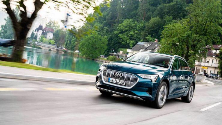 Audi e-tron front three quarter