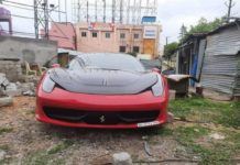 Second Hand Ferrari 458 stolen in Hyderabad
