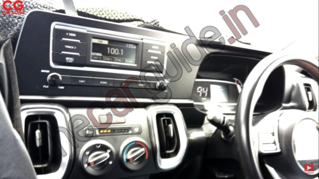 Kia Sonet base model interior spied
