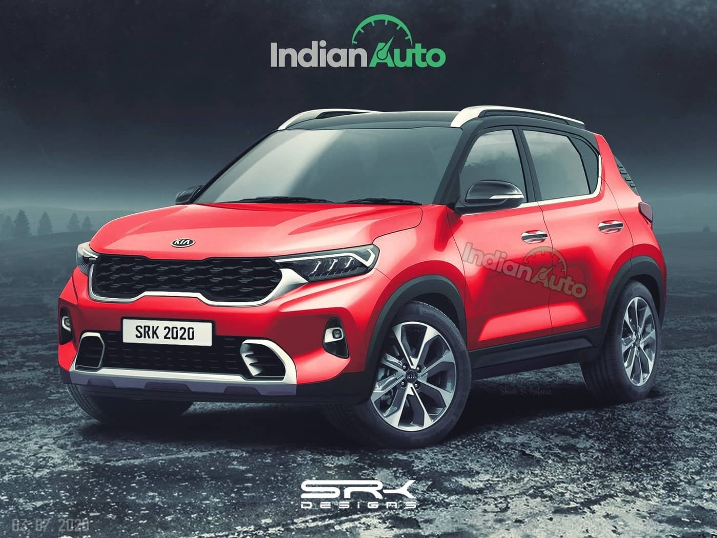 Production-Spec Kia Sonet (Maruti Brezza/Venue Rival) Rendered