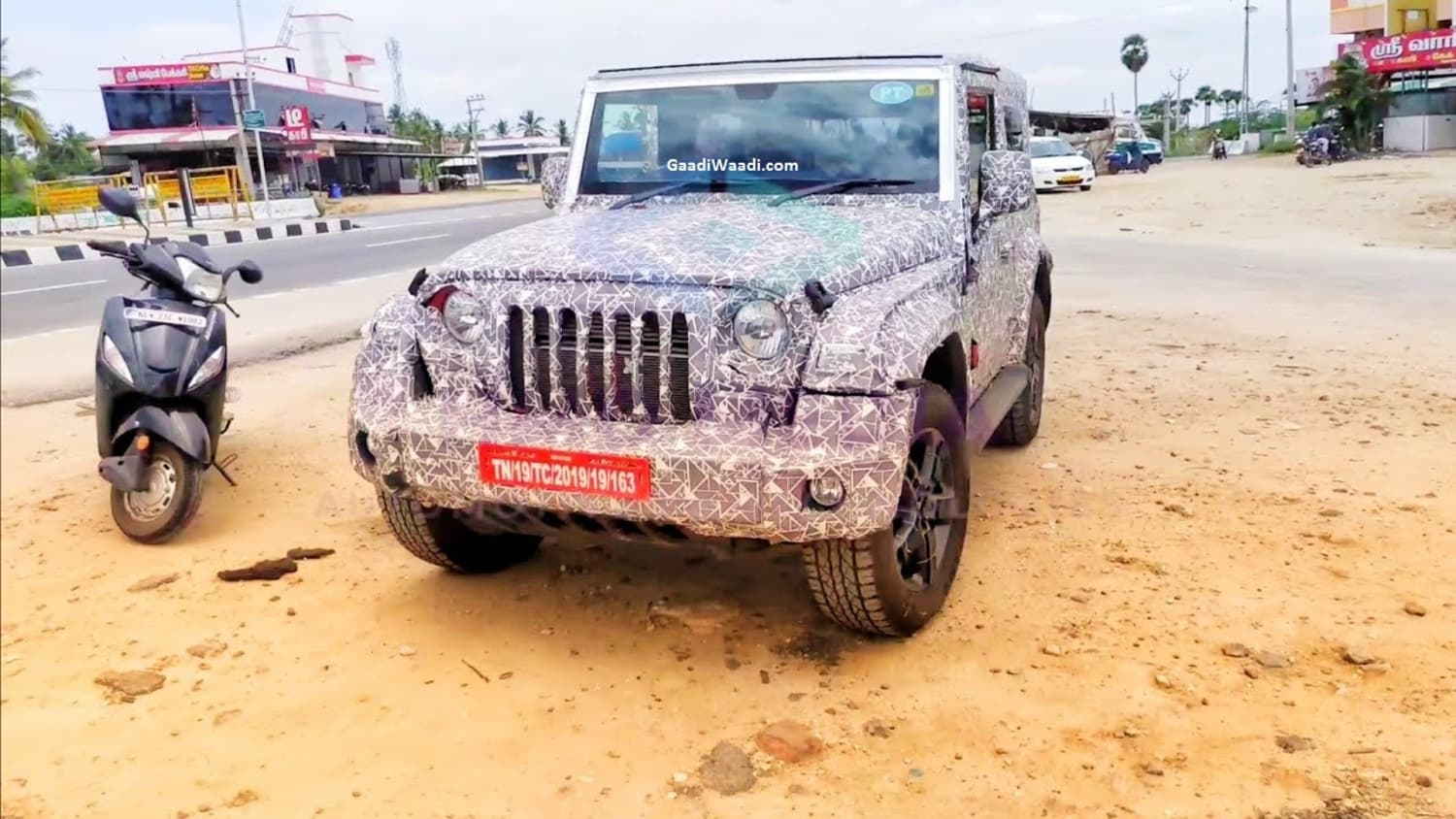 Next-Gen Mahindra Thar Petrol Version Spotted On Test – Video