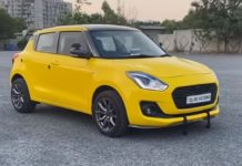 Maruti Swift full body wrap front three quarter