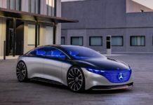 Mercedes Benz Vision EQS concept front three quarter