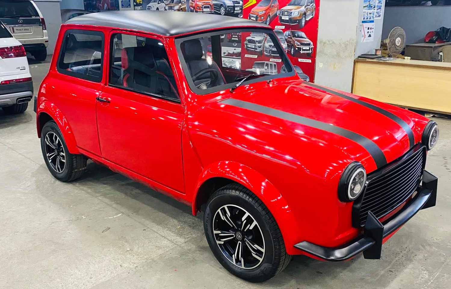 Believe It Or Not – This Mini Cooper Is Actually A Modified Fiat Premier Padmini