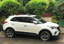 Modified Hyundai Creta side profile