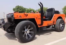 Modified Jeep Low Rider front side angle