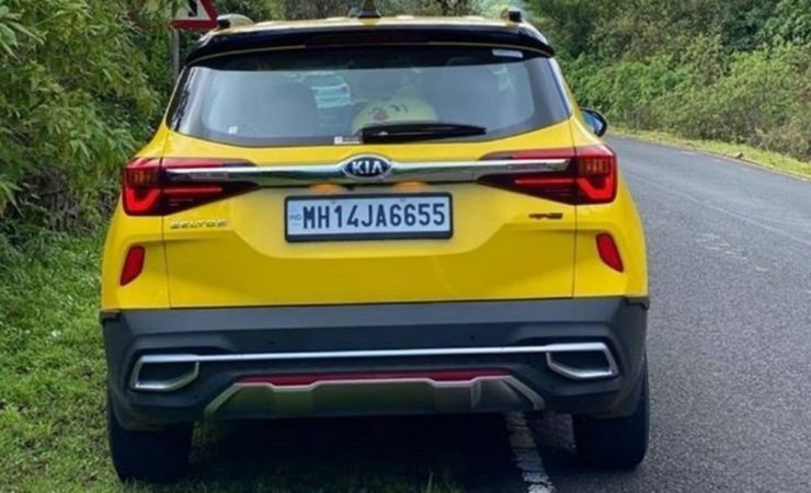 Modified Kia Seltos full body wrap rear