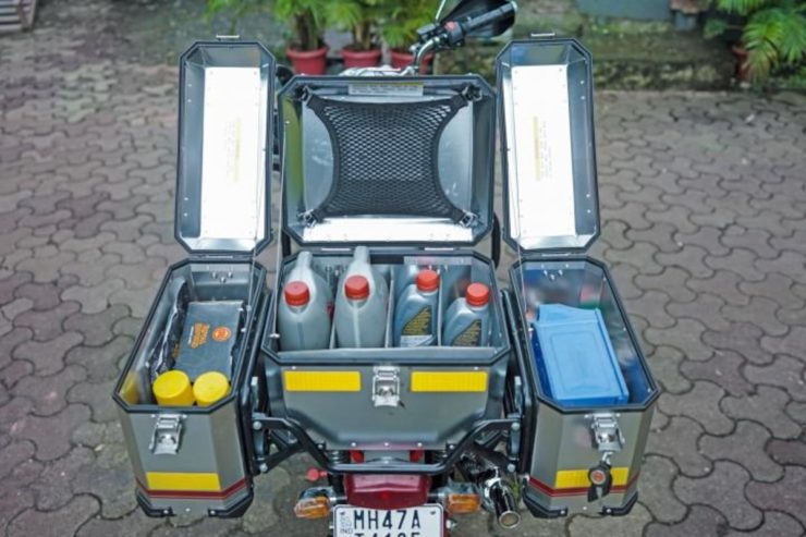 Royal Enfield mobile maintenance motorcycle unit