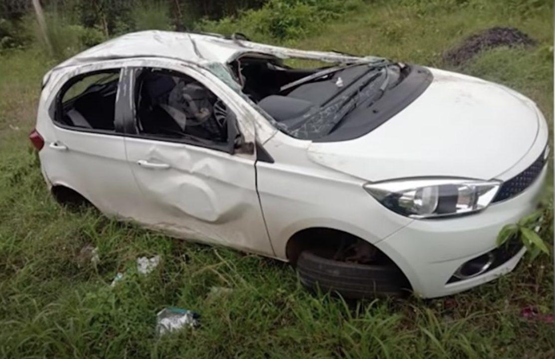 Tata Tiago accident picture