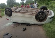 Tata Tiago accident upside down
