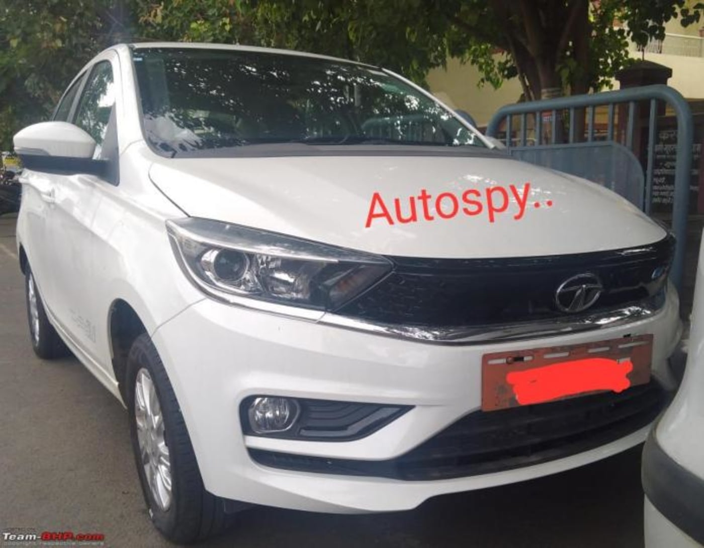 Tata Tigor EV Facelift Spied On Test Without Camouflage