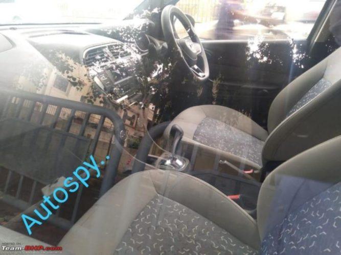 Tata Tigor EV facelift interior spied