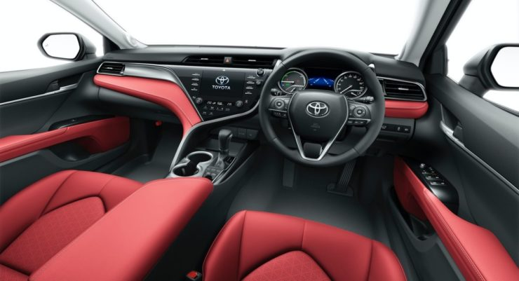 2020 Toyota Camry Black Edition interior