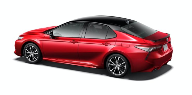 2020 Toyota Camry Black Edition side rear profile