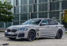 BMW 545e xDrive charging