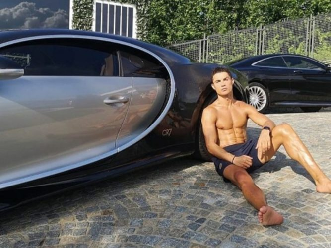 Christiano Ronaldo Bugatti collection